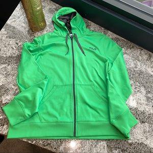 FILA Sport, Green Zip Up Athletic Jacket, XL